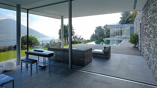 air-lux is frameless and fits flush with the floor, ceiling and walls